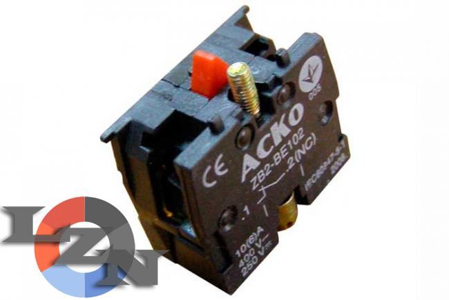Фото контакта для кнопок ZB2-BE102 N/C